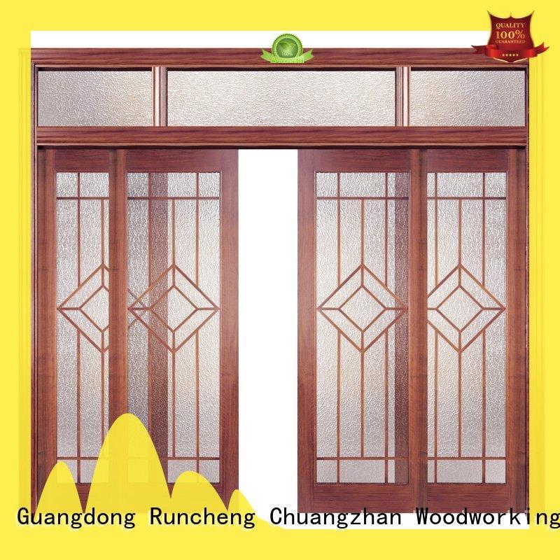 Runcheng Chuangzhan modern rosewood composite door factory for homes