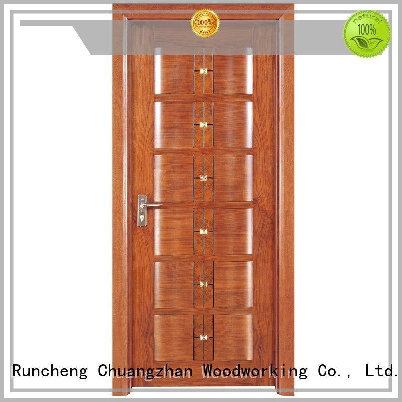 wooden kitchen cabinet doors door Runcheng Woodworking Brand solid wood composite doors