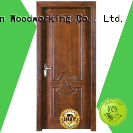 modern design wooden Runcheng Woodworking Brand solid wood composite doors