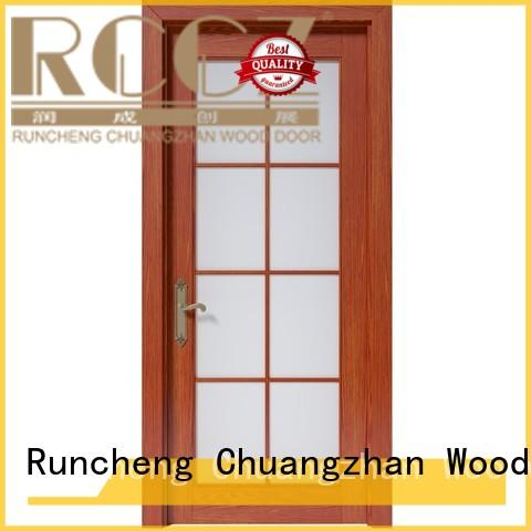 Custom composited interior solid wood composite doors Runcheng Woodworking design