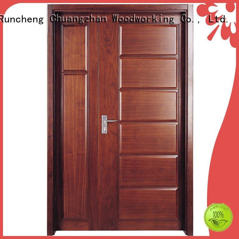 white double doors pure design wooden Runcheng Woodworking