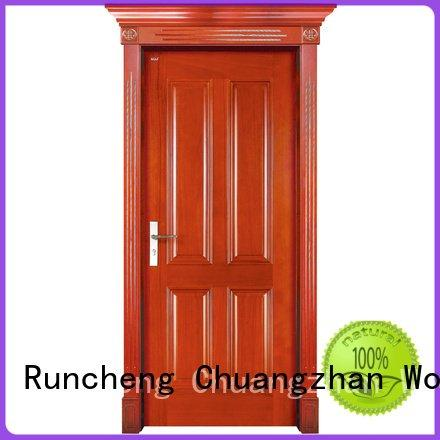 solid wood interior doors for sale solid pure OEM solid wood bifold doors Runcheng Woodworking