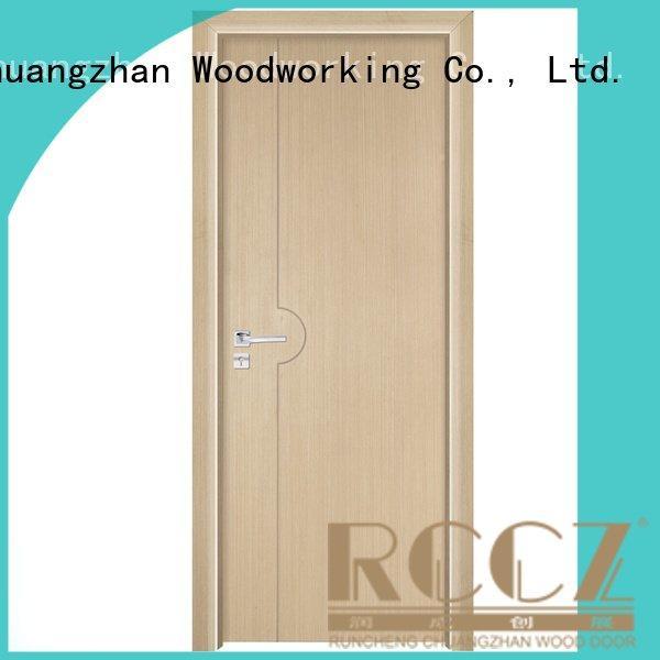 Runcheng Woodworking Brand composited solid wood bedroom composite door wooden modern