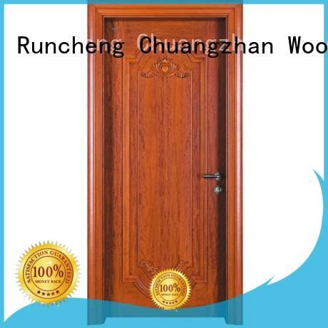 door solid modern design solid wood composite doors Runcheng Woodworking