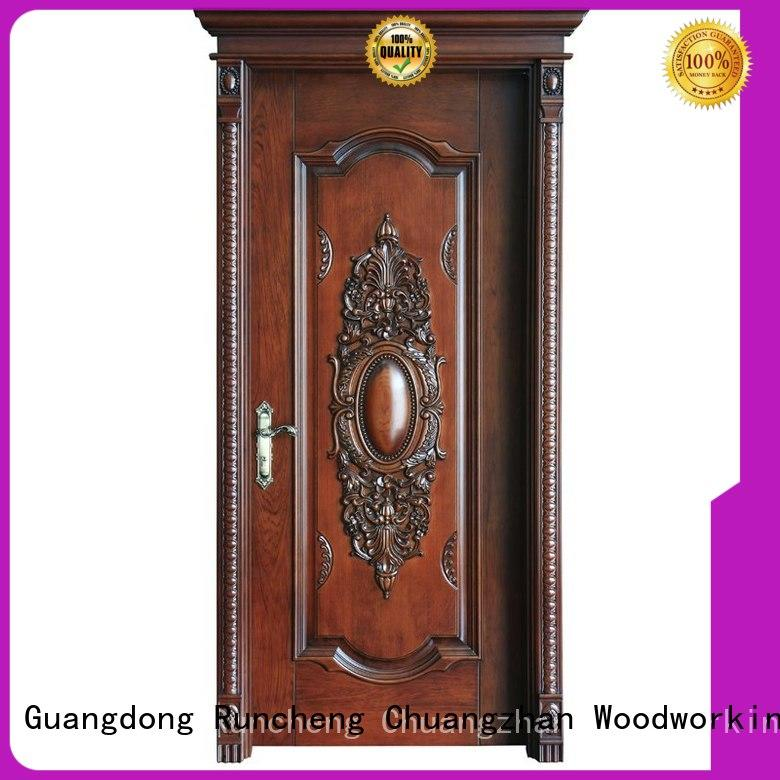 Runcheng Chuangzhan eco-friendly wood effect composite door manufacturers for offices