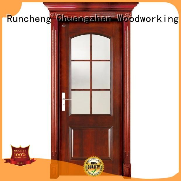 interior high quality wooden Runcheng Woodworking Brand solid wood interior doors for sale factory
