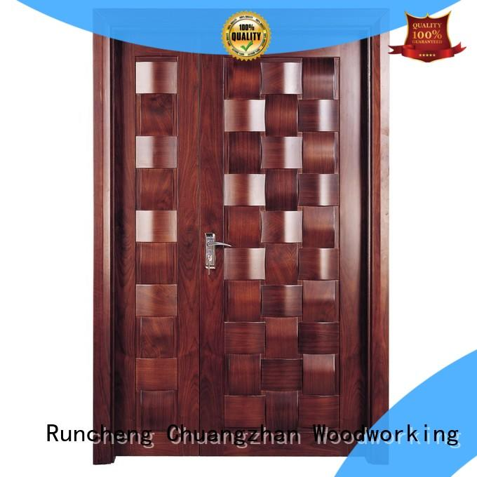 eco-friendly double door design in wood composited with novel design for offices