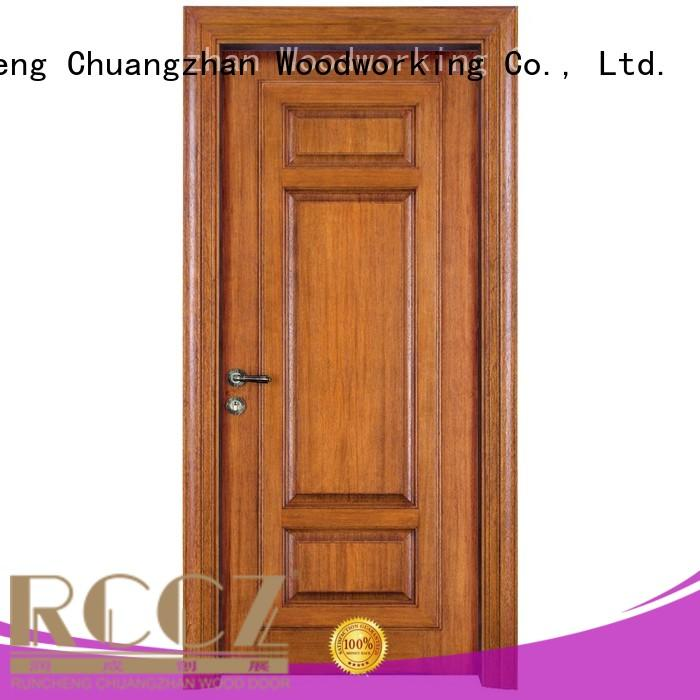 pure door design Runcheng Woodworking Brand solid wood composite doors supplier