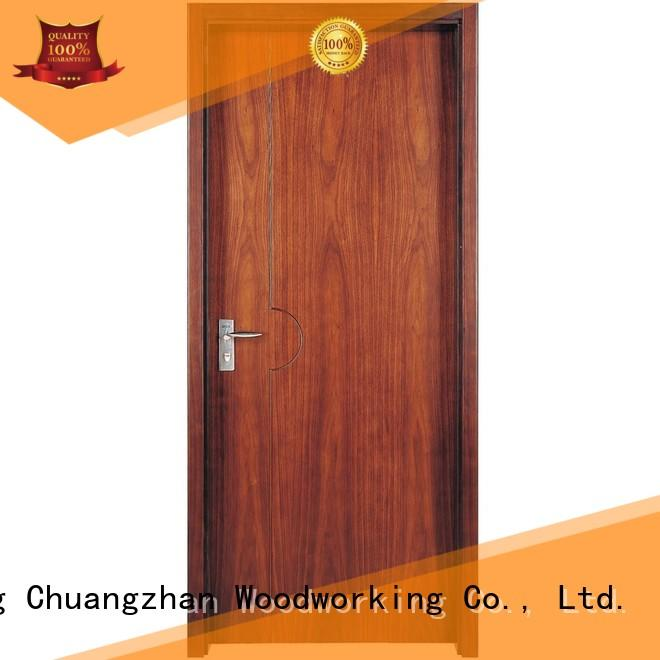 Custom wooden design solid wood composite doors Runcheng Woodworking interior