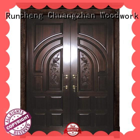 Runcheng Chuangzhan exquisite solid wood double doors manufacturer for offices
