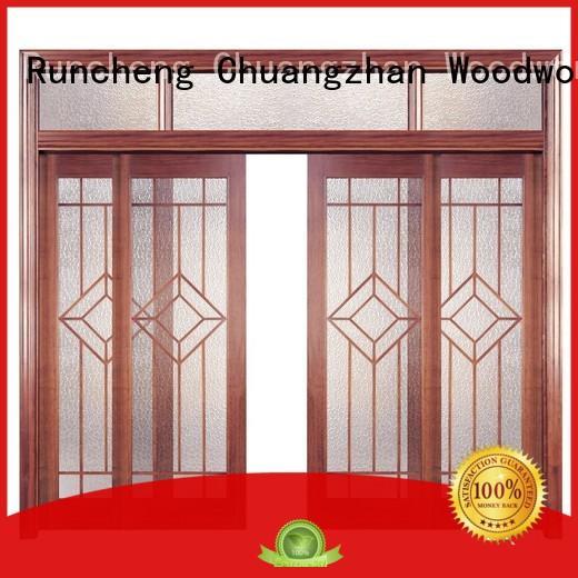 eco-friendly solid composite wooden door interior factory for homes