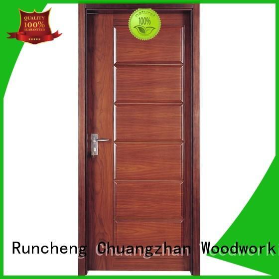 Runcheng Chuangzhan high-grade solid wood composite doors Suppliers for indoor