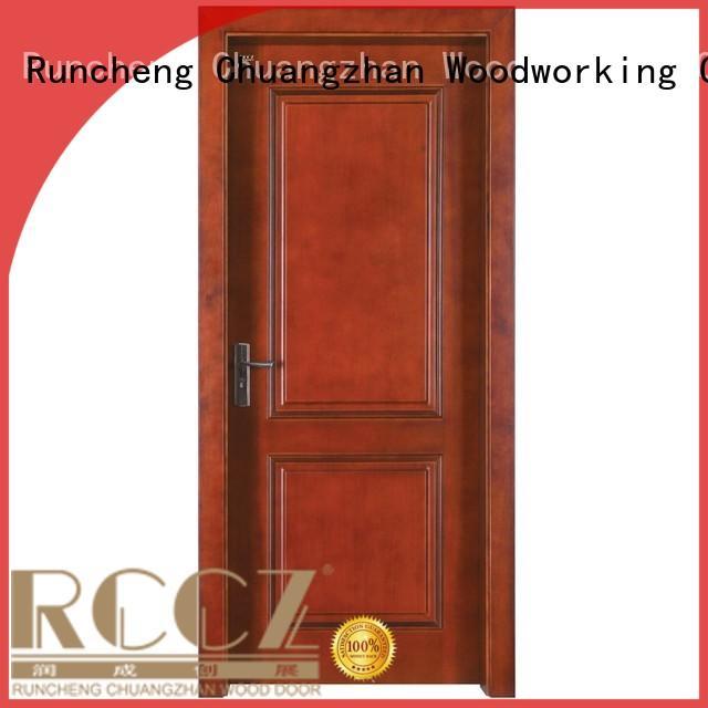 Custom door solid solid wood composite doors Runcheng Woodworking modern design