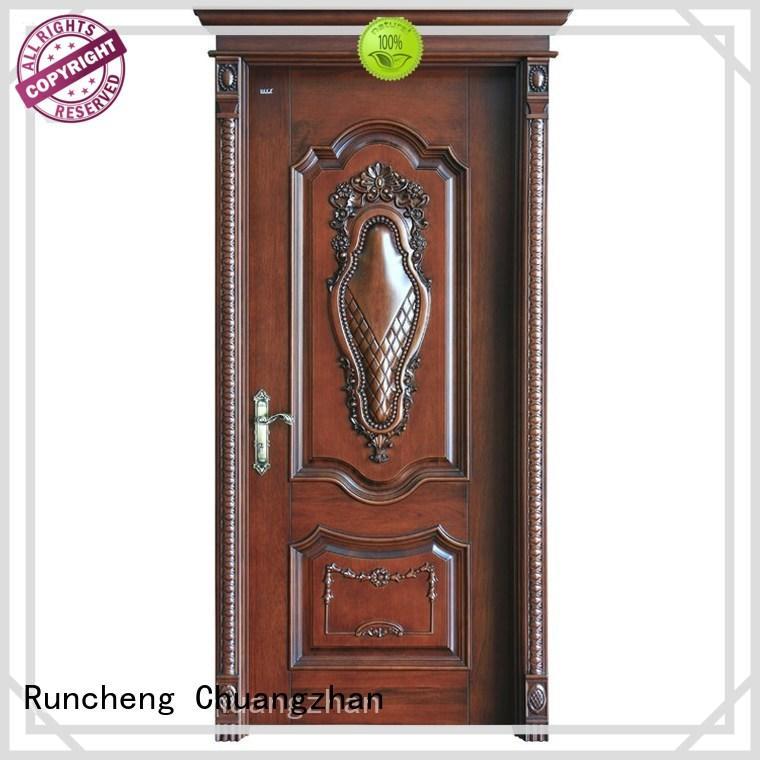 Runcheng Chuangzhan eco-friendly solid composite wooden door company for villas
