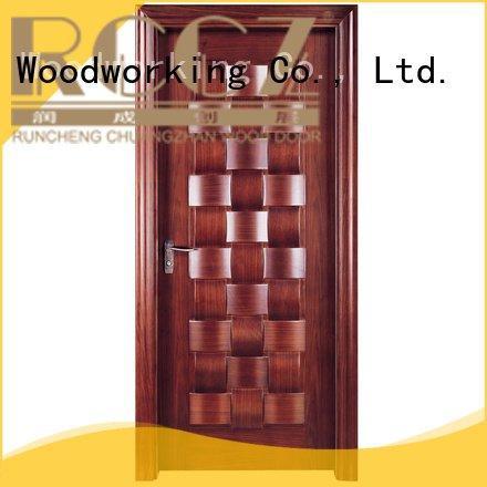 Runcheng Woodworking Brand x023 design solid wood bedroom composite door d024 z002p
