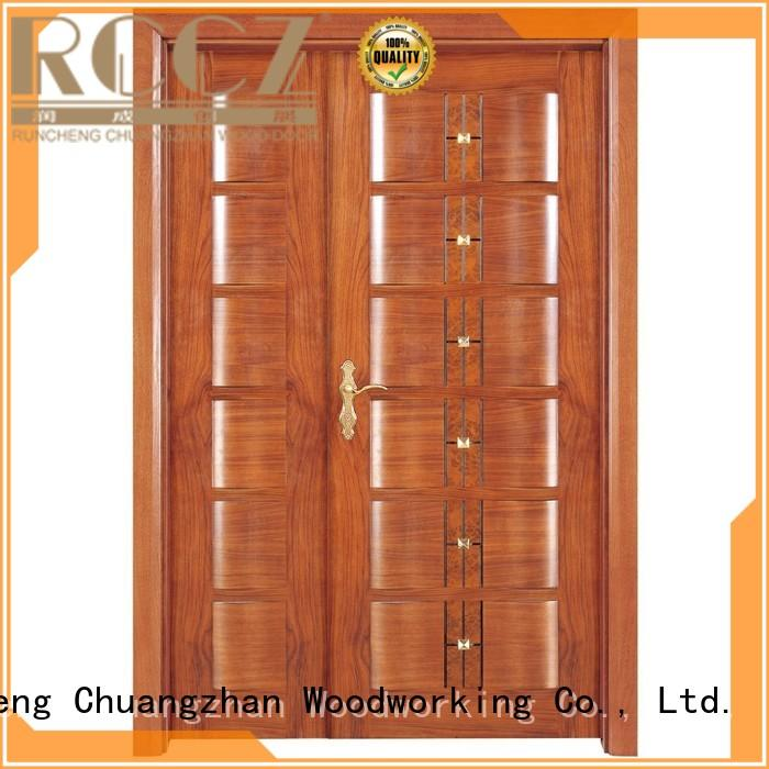 door design OEM interior double doors Runcheng Woodworking