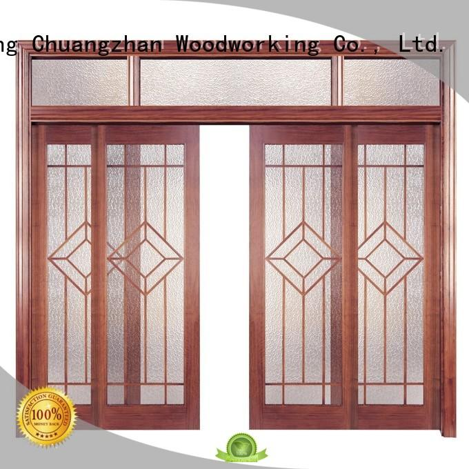 door solid wood composite doors modern design Runcheng Woodworking company