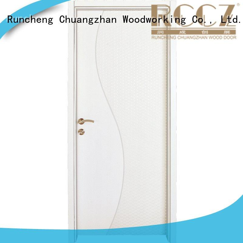 Runcheng Woodworking Brand mdf internal white mdf composited wooden door composited gk011