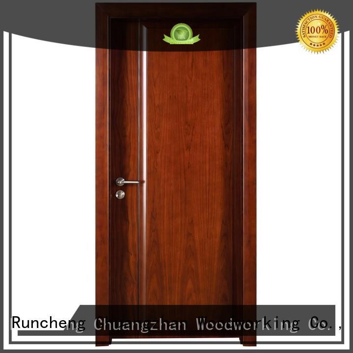 wooden kitchen cabinet doors veneer modern design solid wood composite doors modern Runcheng Woodworking Brand
