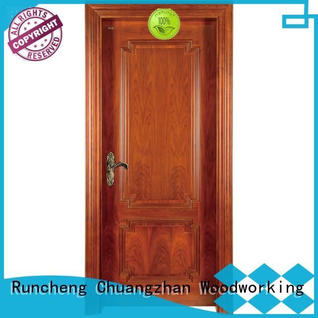 Runcheng Chuangzhan wooden wood composite front doors for business for indoor