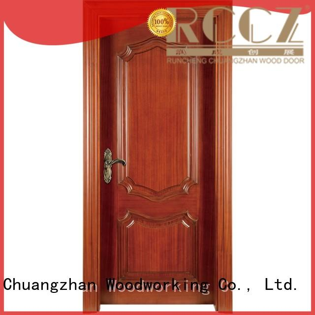 Runcheng Woodworking Brand modern design pure custom wooden kitchen cabinet doors