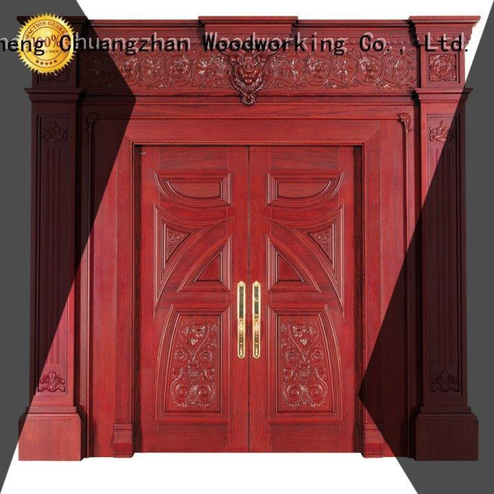 white double doors veneer pure OEM interior double doors Runcheng Woodworking
