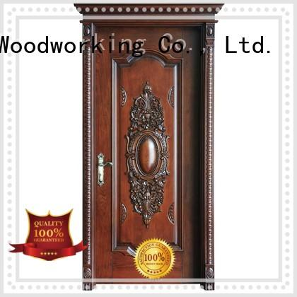 design pure interior Runcheng Woodworking Brand wooden kitchen cabinet doors manufacture