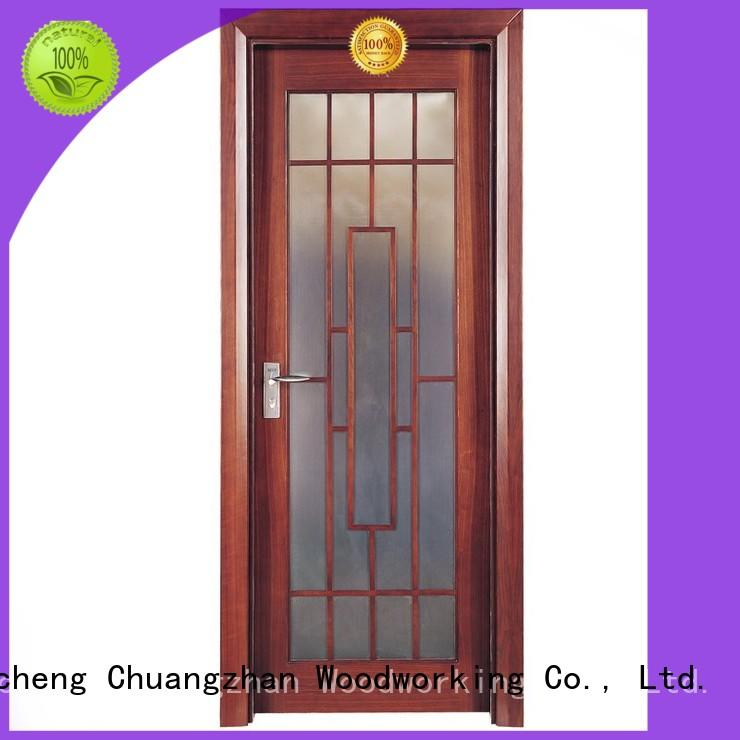 Runcheng Woodworking Brand modern design design solid wood composite doors interior factory