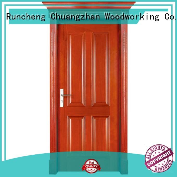 Runcheng Woodworking Brand pure solid wood bifold doors high quality factory
