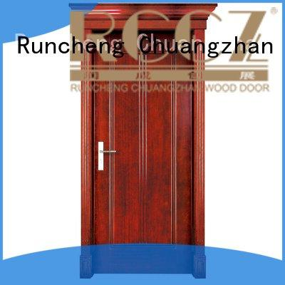 solid solid wood bifold doors Runcheng Woodworking solid wood interior doors for sale