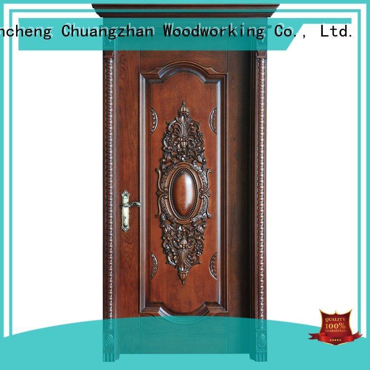 Runcheng Woodworking solid wood bedroom composite door gk011 ck010 x035