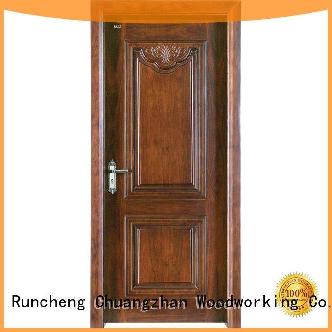 Wholesale s027 pp007 solid wood composite doors Runcheng Woodworking Brand