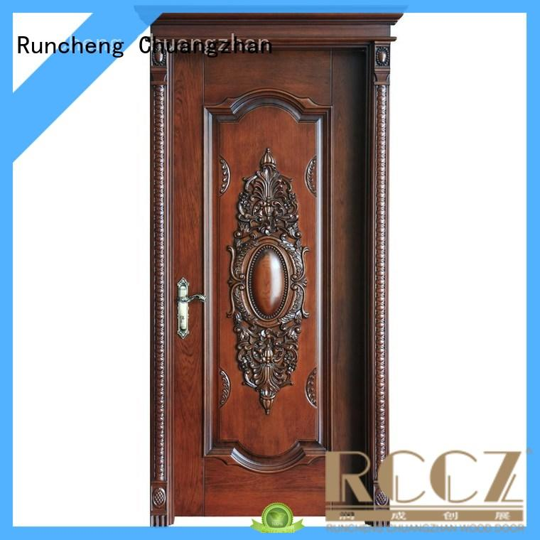 Top wood composite front doors composited factory for hotels