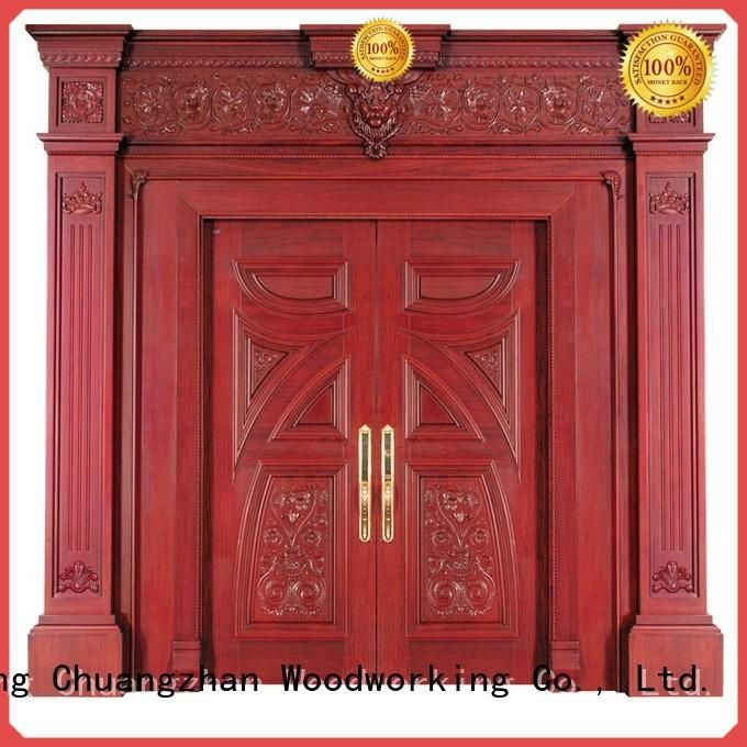 solid interior double doors pure Runcheng Woodworking company
