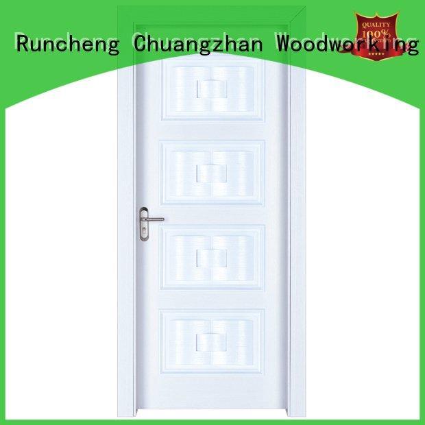 Hot solid wood bedroom composite door design composited modern Runcheng Woodworking Brand