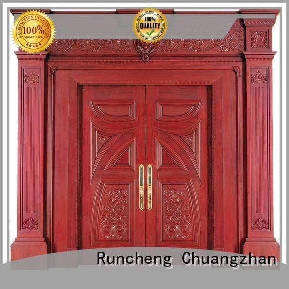 Runcheng Chuangzhan glass wooden double doors company for hotels