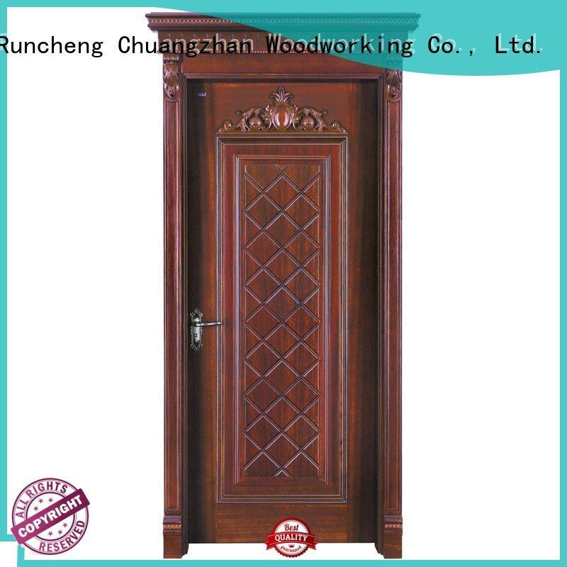 modern design solid pure solid wood composite doors design Runcheng Woodworking