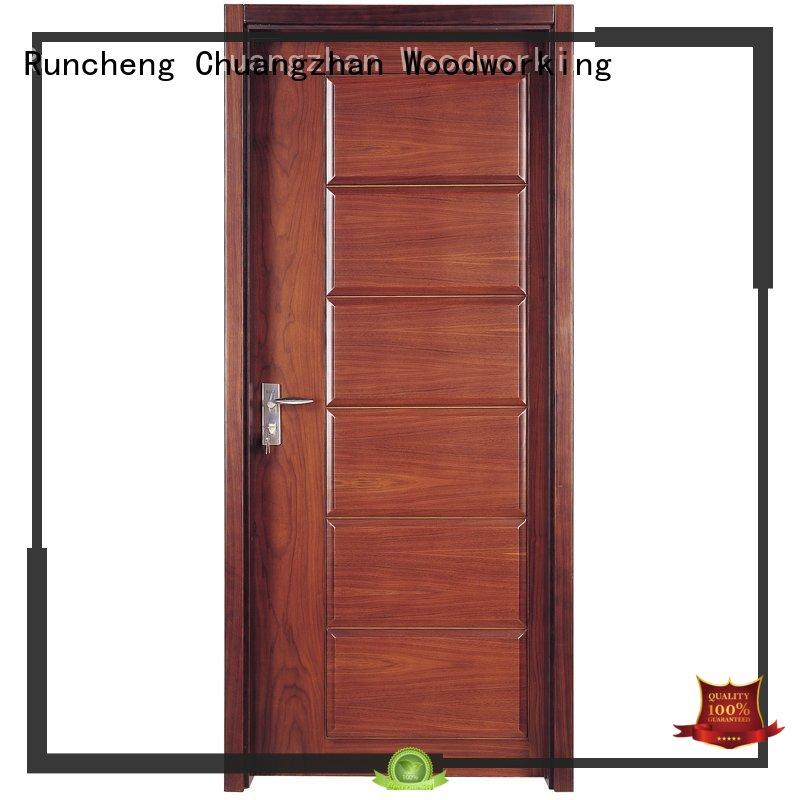Runcheng Chuangzhan modern wood composite front doors company for homes