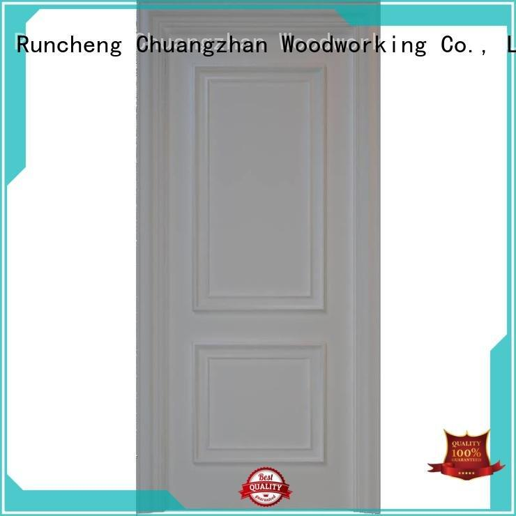 internal white mdf composited wooden door composited mdf interior doors Runcheng Woodworking Brand