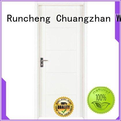 composited internal white mdf composited wooden door Runcheng Woodworking Brand