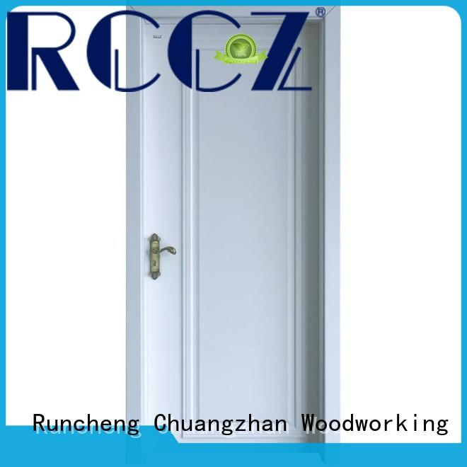 eco-friendly solid core mdf interior doors wooden Supply for hotels