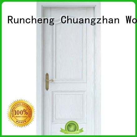 Runcheng Chuangzhan eco-friendly solid mdf interior doors Supply for indoor