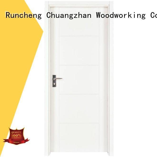 Runcheng Woodworking Brand pp0053 pp0033 mdf internal white mdf composited wooden door