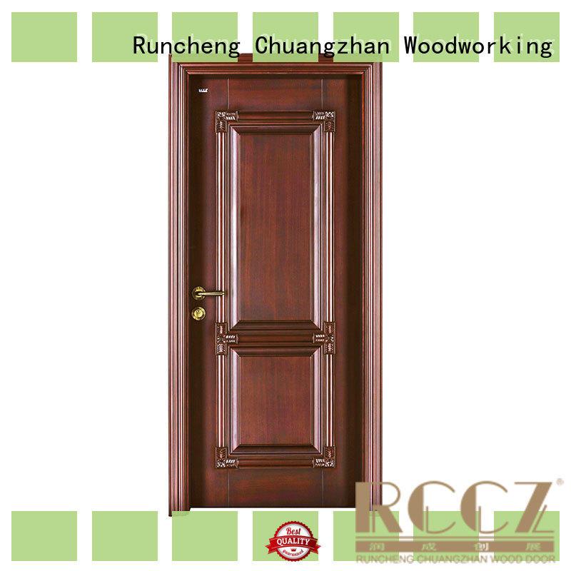 Runcheng Chuangzhan exquisite external wooden doors Suppliers for hotels
