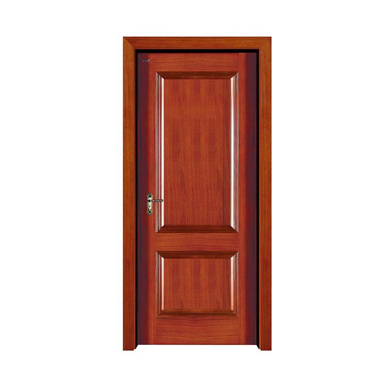 Residential Burma walnut exterior solid wood door S001