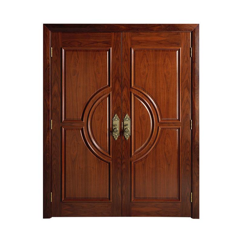 Classic style  teak exterior wooden door WM0017