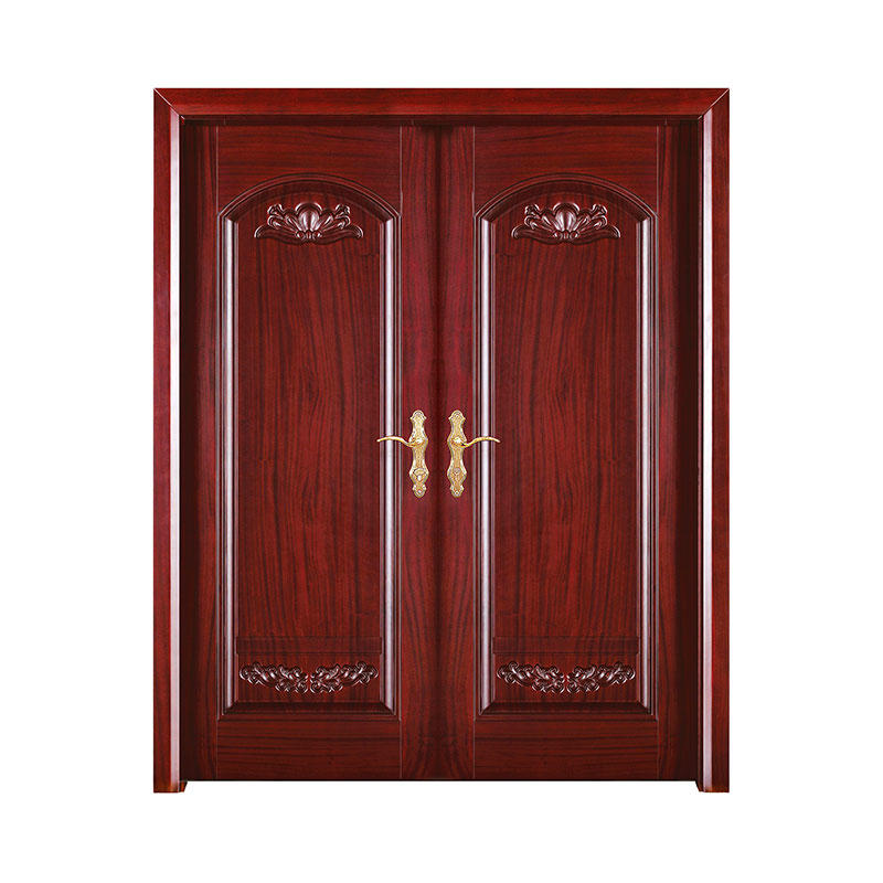 Antiquity style American Walnut  wood exterior door D021Y