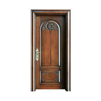 Traditional style sapele wood exterior door S029