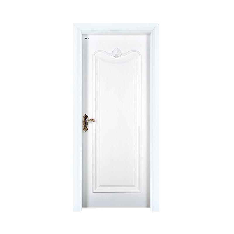 Classic design white  Oak exterior wood door X037