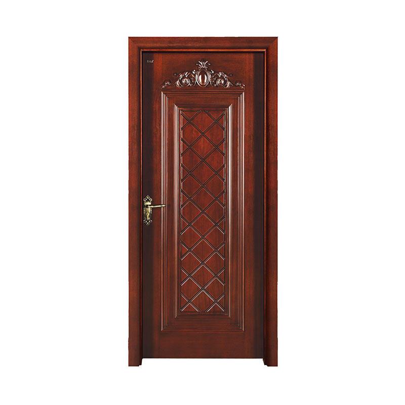 Traditional design Okoume exterior wood door S017